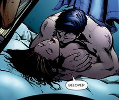 Talia Al Ghul and Batman. Yep