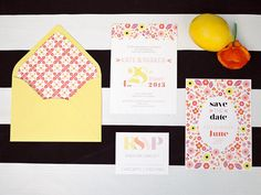 #paper-goods, #stationery  Photography: Chelsea Scanlan Photography - chelseascanlan.com  Read More: http://www.stylemepretty.com/2013/08/20/citrus-inspired-photo-shoot-from-chelsea-scanlan-photography/