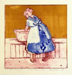 Hilde Grønstad Sunde - Bløtleggerske (blå variant)   Galleri Briskeby Painting, Art, Art Background, Painting Art, Kunst, Paintings, Performing Arts, Painted Canvas, Drawings