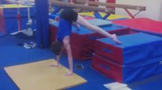 Drill or Progression to Learn a Press to Handstand in Gymnastics.