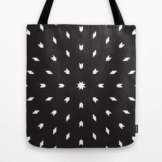 Black & White Geometrics Tote Bag by funtentdesign - $22.00