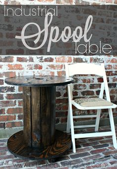 Industrial Spool Table | A Diamond in the Stuff