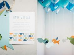 A Modern Fishing Themed Baby Shower Celebration That Will Reel You Right  In! » Kindled