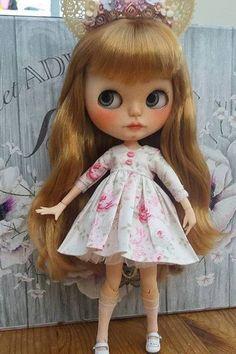 Letní šaty pro Blythe nebo podobné panenky