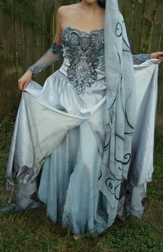 Corpse bride wedding dress. Makes me think of Sarah from the Labyrinth for some reason.