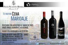 La última de noviembre va con Vinos Mexicanos. ¡Reserva ya, te esperamos!