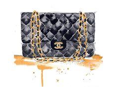 He encontrado este interesante anuncio de Etsy en https://www.etsy.com/es/listing/219136004/chanel-purse-fashion-illustration