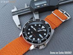 Seiko Diver SKX007 | Never go wrong with Perlon straps | Strapcode Watch Strap WordPress