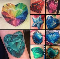 """In 1961, Shirley Bassey sang the words """"Diamonds are Forever"""" to go along with the James Bond installment of the same name. And you know what else is forever? Tattoos! Gemstones—from Marilyn's clas..."""