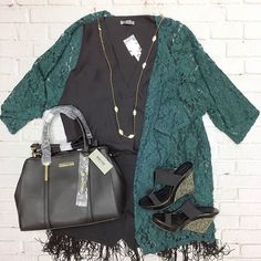Lovely lace  NEW Lularoe green sweater size L $14.50 NEW DKNY black top size M $9 Mossimo black shorts size M $6NEW Charles by Charles David black sandals size 7.5 $22 NEW Kenneth Cole Reaction black bag retails $99 OUR PRICE $32 and 2 pc gold necklace set $8 .  .  Hop on over to our Pick an Egg Event Friday and Saturday 10-8!  Pick an egg  and win up to 40% off your entire purchase!   .  Gotta have it? Shop: 61 E. Germantown Pike  Hours: Mon- Sat: 10-8 Sun: 12-6 We do phone orders!! Call…