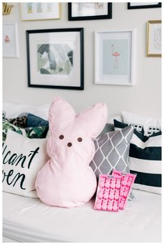 Is it time to replace your pillow cases? Put them to good use and make an oversized bunny pillow, just in time for Easter! YOU WILL NEED: Old Pillow Case / Fleece Fabric (preferably with a … Old Pillows, Throw Pillows, Disney Pillows, Fleece Fabric, Pillow Cases, Bunny, Paper Crafts, Kids Rugs, Cute