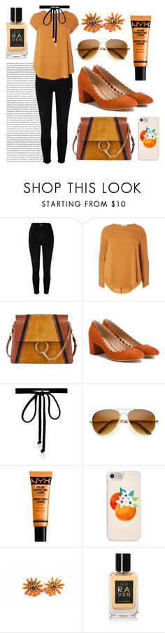 """""""Untitled #152"""" by coffeegirl233 ❤ liked on Polyvore featuring River Island, Dorothy Perkins, Chloé, Joomi Lim, NYX and Kate Spade"""