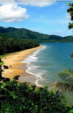 Costa del lindo pueblo de Maunabo en la hermosa Isla del Encanto, Puerto Rico.