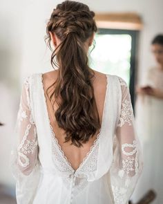 """5,116 Likes, 8 Comments - Bridestory (@thebridestory) on Instagram: """"Another hair inspiration coming your way! The braided hair style with curled pony by…"""""""