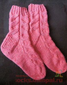 Носки «Розовая мечта» (Вязание спицами)
