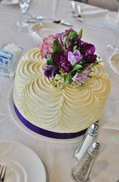 Tarta decorada con burttercream