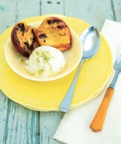 Grilled-Peach Sundaes | Eliminating gluten from your diet doesn't mean sacrificing flavor. Try these recipes for sweet indulgences.