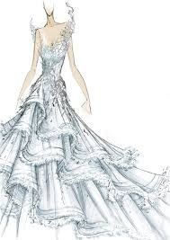 This is the sketch of Caching Fire's wedding dress