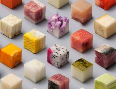 Artists Cut Raw Food Into 98 Perfect Cubes To Make Perfectionists Hungry   for urban women   Asia's top modern women lifestyle blog