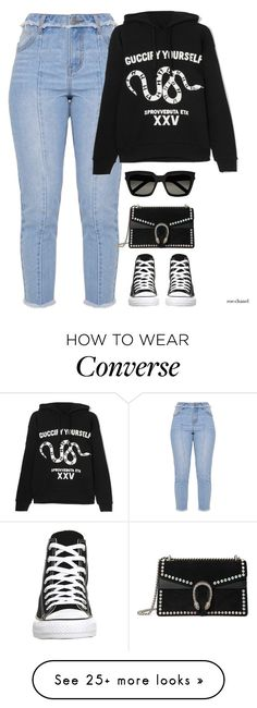 """""""BlackVibes,March 4th"""" by roe-chanel on Polyvore featuring Gucci, Converse and Yves Saint Laurent"""
