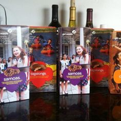 Samoas and wine? Sounds like boys night in haha #iration