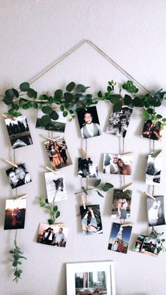 Quick and simple! DIY pictures and clothespin wall decor Quick and simple! DIY pictures and clothespin wall decor The post Quick and simple! DIY pictures and clothespin wall decor appeared first on Fotowand ideen. Cute Room Decor, Room Wall Decor, Diy Wall Decor, Family Tree Wall Decor, Tree Branch Decor, Flower Wall Decor, Home Decor, Diy Wand, Mur Diy