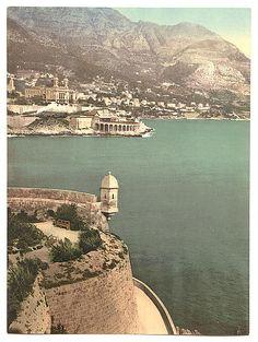Monte Carlo, from Fort Antoine, Monaco (Riviera) around 1890-1900