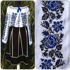 Simple Cross Stitch, Cross Stitch Charts, Cross Stitch Patterns, Palestinian Embroidery, Cross Stitch Animals, Loom Knitting, Traditional Dresses, Types Of Shirts, Smocking