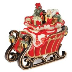 Fitz and Floyd Yuletide Traditions Cookie Jar