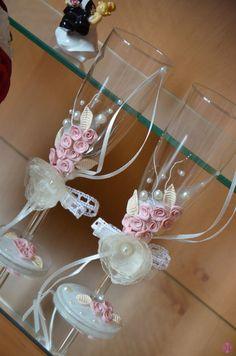 """Hochzeitsgläser - """"Romantic Vintage"""" von Saphira Style Dekoratinsservice & Handel -  Nelli Held auf DaWanda.com"""