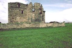 Coloured photo of Faside Castle in ruins. Holiday Accommodation, Edinburgh, Castle, Color, Beautiful, Colour, Colors, Castles