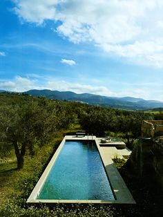 Imagine having your pool right next to your orchard.