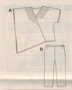 Asymmetric Shirt Capri Crop Trousers Pants Sew Pattern 18 34   eBay