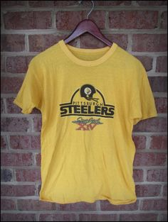 Vintage 80's NFL Pittsburgh Steelers Super Bowl 14 Shirt by CharchaicVintage, $16.00