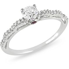 Ice Diamond, Pink Sapphire 10k White Gold Ring ($1,595) ❤ liked on Polyvore featuring jewelry, rings, wedding ring, wedding, women's accessories, wedding band rings, diamond rings, engagement rings, 14k white gold ring and white gold rings