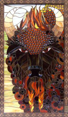 Aimee Fink Mosaics- Year of the Buffalo~Summer