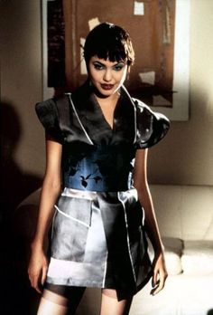 Y2K Aesthetic Institute — Angelina Jolie in Hackers (1995) Hackers Angelina Jolie, Divas, Pixie Styles, 90s Fashion, Leather Skirt, Mini Skirts, Hollywood, Celebs, Style Inspiration