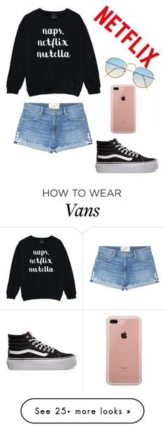 """Untitled #399"" by beddiann on Polyvore featuring Sandrine Rose, Vans and Belkin"
