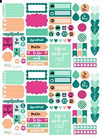 These printable planner stickers are part of the terrific Hello Spring bundle…