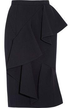 Burberry Prorsum   Ruffled crepe pencil skirt   NET-A-PORTER.COM