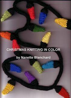 Christmas knitting lights
