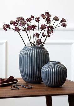 Pretty Hammershoei vases from Kähler in blue tones.