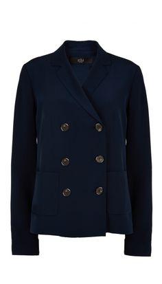 Luxe silk blazer? Yes, please.