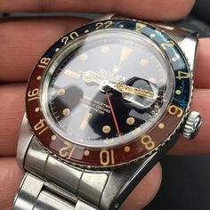 "Rolex Watches Collection : Born this way: The Rolex GMT 6542 circa The ""M"" stands for magic. - Watches Topia - Watches: Best Lists, Trends & the Latest Styles Sport Watches, Cool Watches, Watches For Men, Vintage Rolex, Vintage Watches, Luxury Watches, Rolex Watches, Rolex Tudor, Rolex Women"