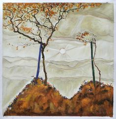 Wall Art Artwork Painting Ready To Hang Canvas Generous Four Trees By Egon Schiele