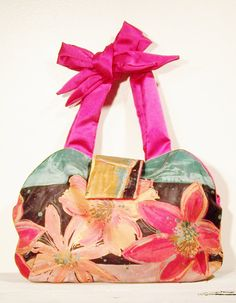 Pink Tropical Flower Handbag by TrampLeeDesigns on Etsy