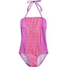Gossip Girls' Tribal Pop 1-Piece Swimsuit (Pink, Size 16 Youth) - Youth Swim, Girl's Swim at Academy Sports