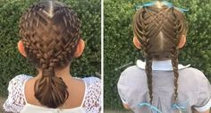 This Little Girl Has Braids That Look Like Works Of Art, All Thanks To Her Creative Mom