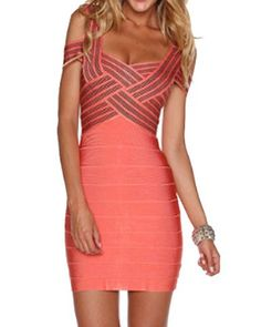 Sexy Sweetheart Neckline Hollow Out Bodycon Bandage Dress For Women