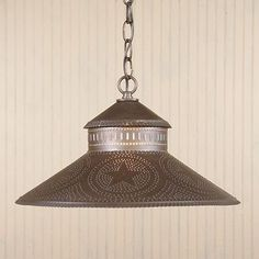 Kitchen Island Shade Light in Punched tin with Stars - traditional - kitchen lighting and cabinet lighting - Everything Primitives